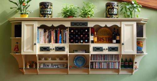 Painted Wall Storage Unit