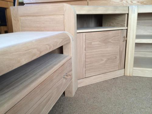 Oak Modular TV Cabinets before finishing