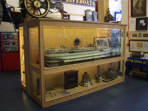 Glazed cabinet for Lifeboat Museum in Whitby.