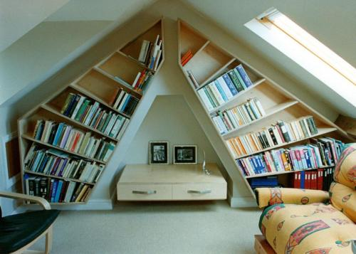 Shelving and suspended cabinet in the shape of sails for sailing enthusiast