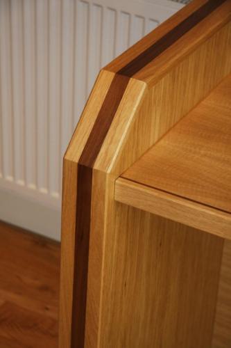 Oak Desk detail in Black Walnut