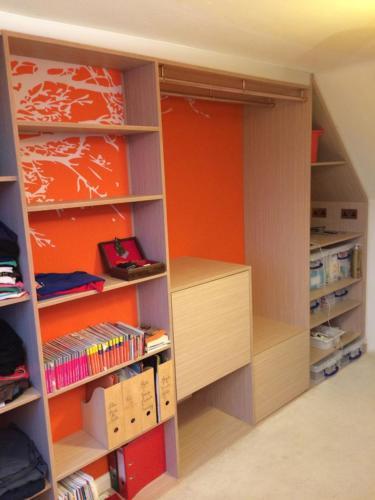 Open-plan wardrobe
