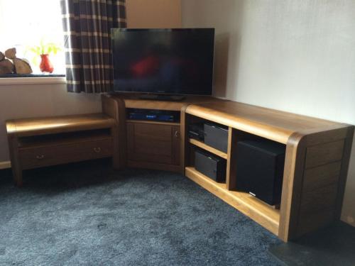 Oak modular cabinets in situ